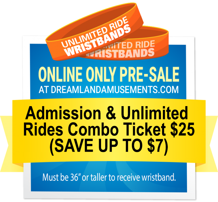 Online Pre-Sale Admission and Rides Combo