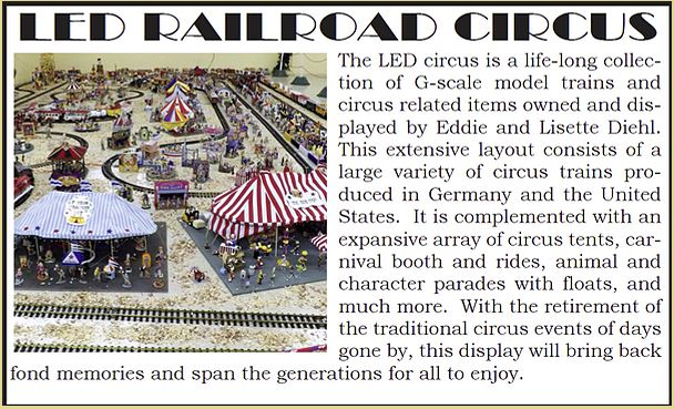 LED Railroad Circus